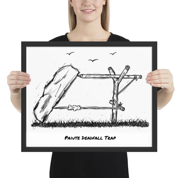 Paiute Deadfall Trap: Limited Edition Wall Art