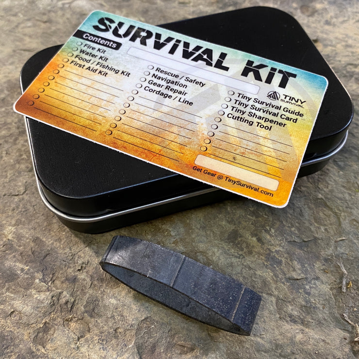 Survival Tin Kit: Rectangle - SMALL (7.4 c.i.)