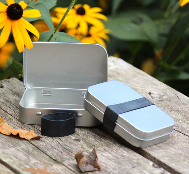 Tiny Survival Tin Kit: Rectangle - SMALL (7.4 c.i.)