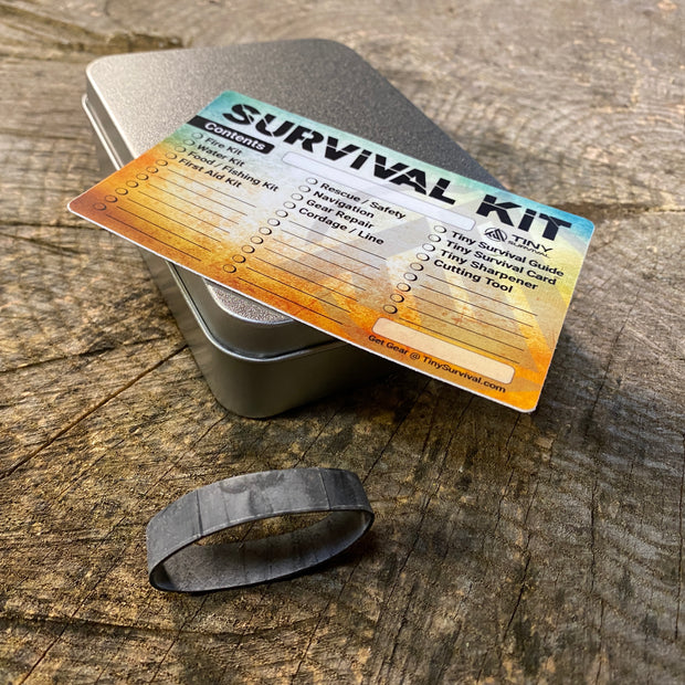 Tiny Survival Tin Kit: Rectangle - LARGE (13.3 c.i.)
