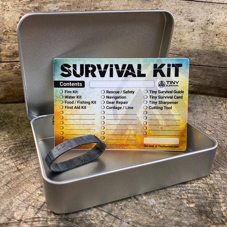 Survival Tin Kit: Rectangle - LARGE (13.3 c.i.)