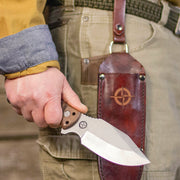 MSK-1 Primitive Survival Knife - With Drop Loop Carry Sheath