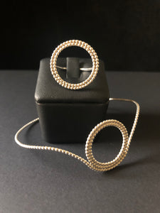 Deeply Dippy beaded wire bangle