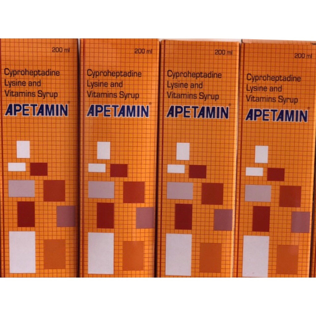 4 Bottles of Apetamin Vitamin Syrup (800ml)