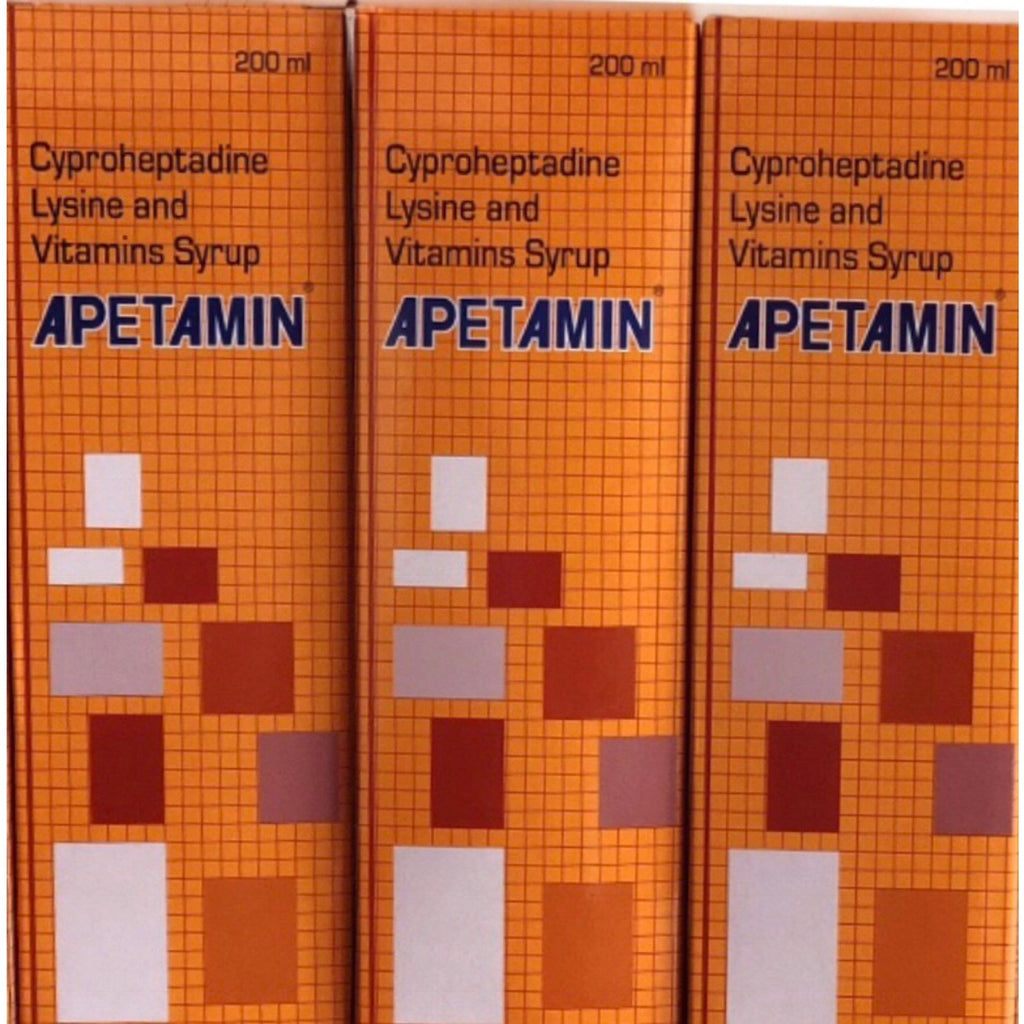 3 Bottles of Apetamin Vitamin Syrup (600ml)