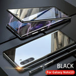 Upgraded Two Side Tempered Glass Magnetic Adsorption Phone Case for Samsung Note 10