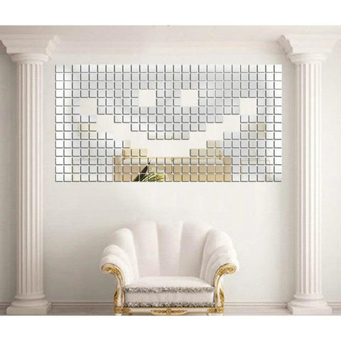 Image of Mirrored Mosaic Wall Adhesives - 100 Pieces