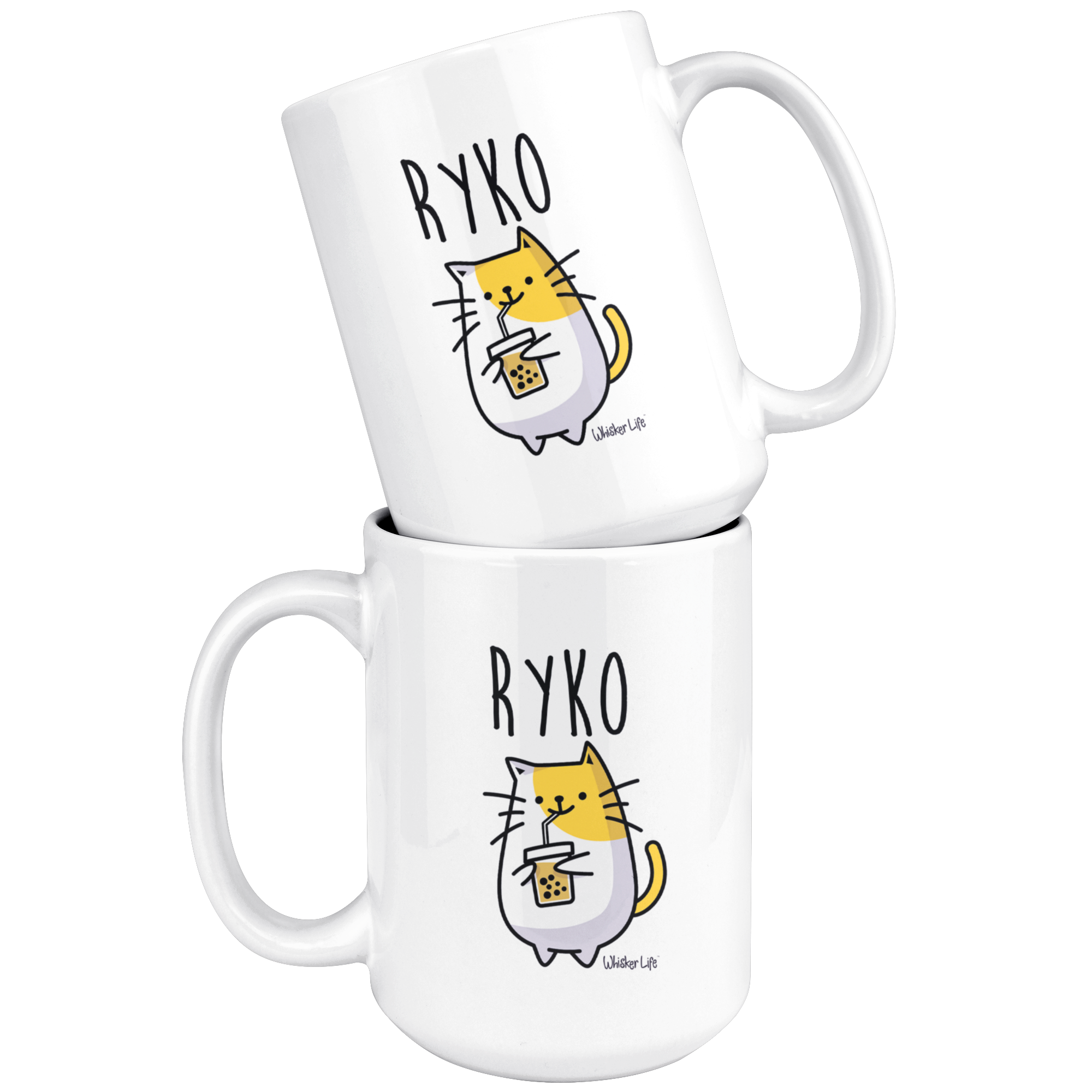 Ryko Drinking Coffee - Large 15oz Coffee Mug