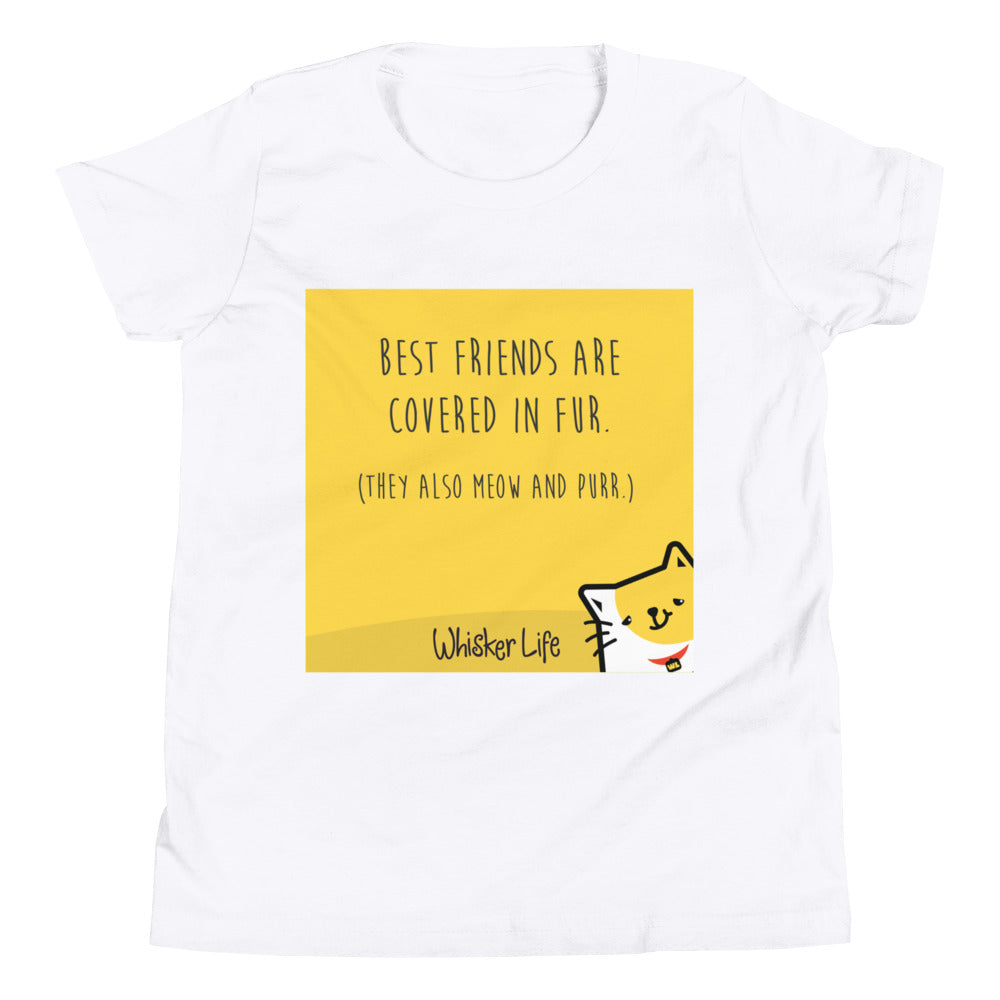 Best Friends Are Covered In Fur - Block Style Youth Short Sleeve T-Shirt