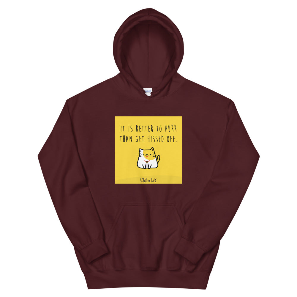 It's Better To Purr Than Get Hissed Off - Block Style Unisex Hoodie