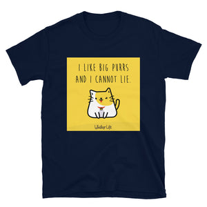 I Like Big Purrs and Cannot Lie - Block Style Short-Sleeve Mens T-Shirt