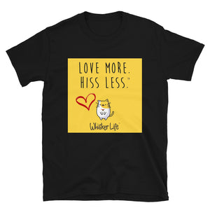 Love More Hiss Less - Block Style Short-Sleeve Mens T-Shirt