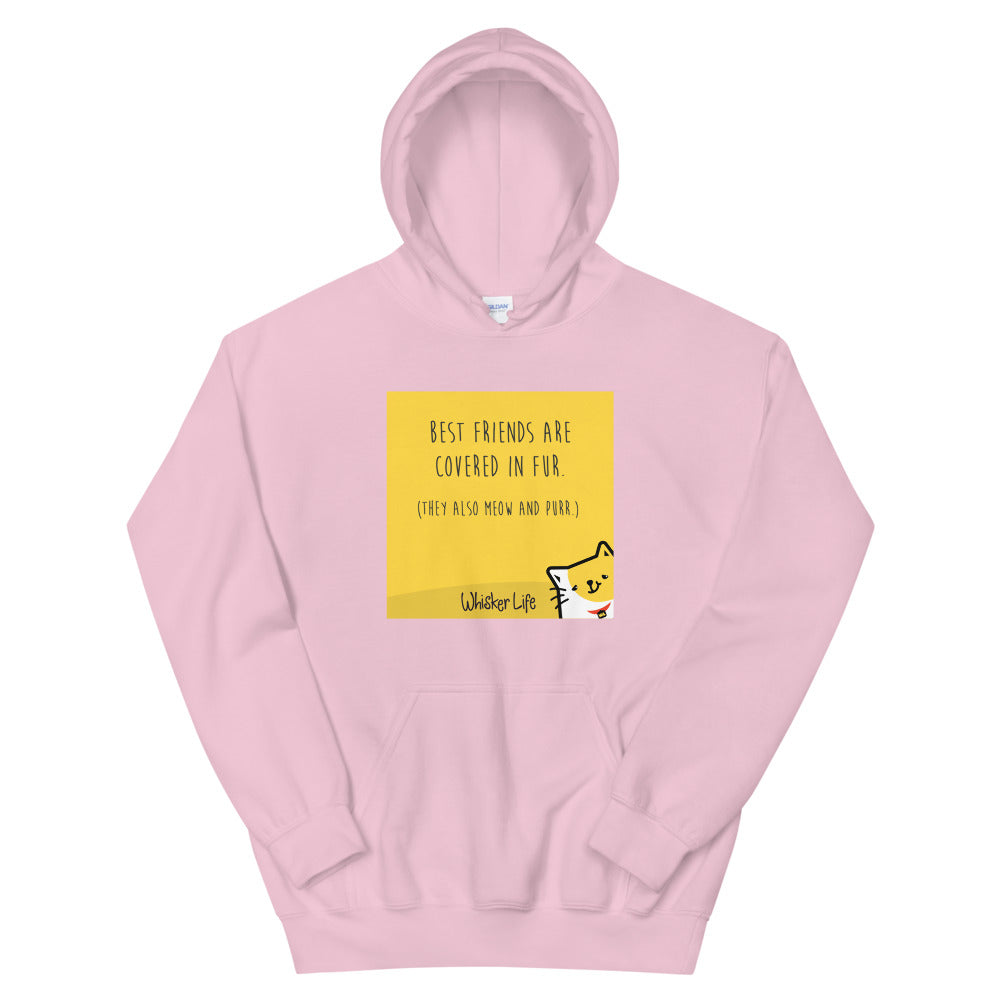 Best Friends Are Covered In Fur - Block Style Unisex Hoodie