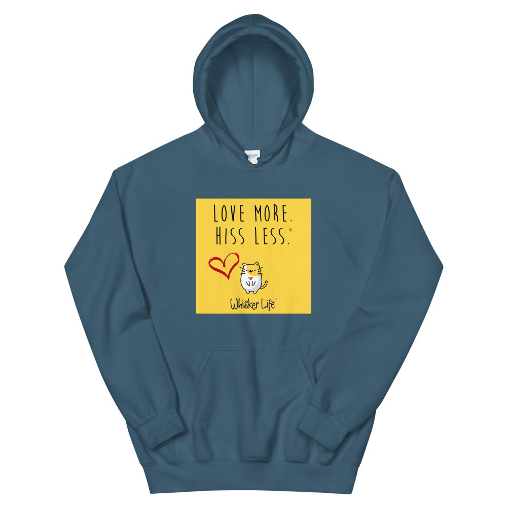 Love More Hiss Less - Block Style Unisex Hoodie
