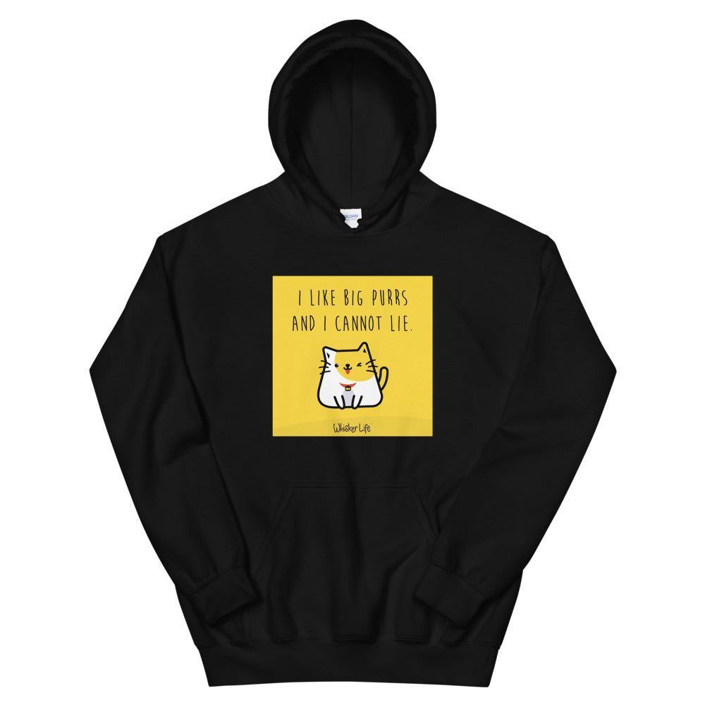 I Like Big Purrs and Cannot Lie - Block Style Unisex Hoodie