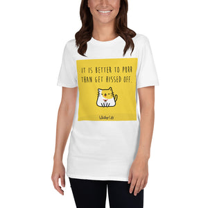 It Is Better To Purr Than Get Hissed Off - Block Style - Short-Sleeve Ladies T-Shirt