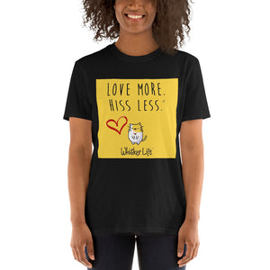 Love More Hiss Less Block Style Short-Sleeve Ladies T-Shirt