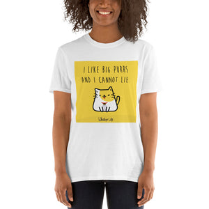 I Like Big Purrs And Cannot Lie - Block Style Short-Sleeve Ladies T-Shirt