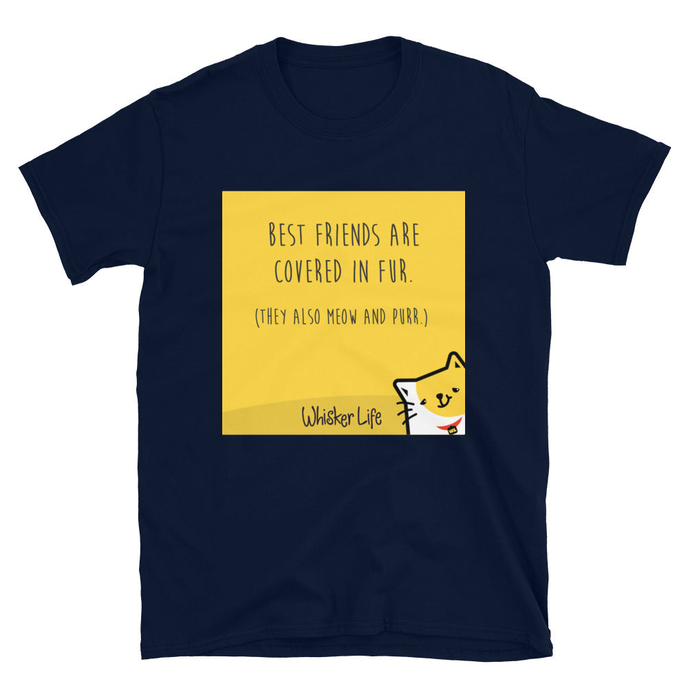 My Best Friends Are Covered In Fur - Block Style Short-Sleeve Mens T-Shirt
