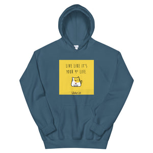 Live Like It's Your 9th Life - Block Style Unisex Hoodie