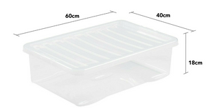 Crystal U/Bed box and lid Clear 32L