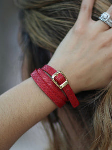 Angie Wrap Around Bracelet in Aubergine