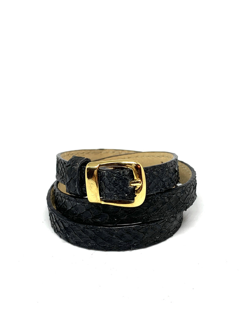 Angie Wrap Around Bracelet in Washed Black