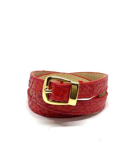 Angie Wrap Around Bracelet in Vermilion
