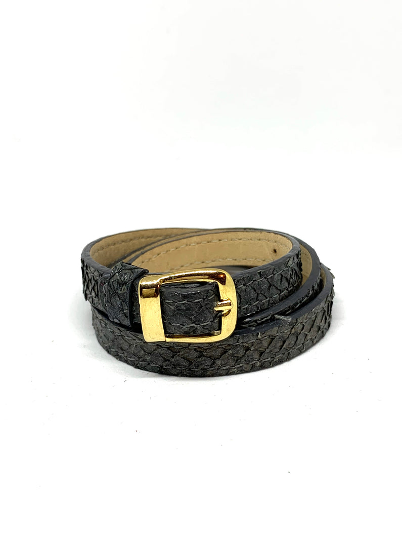 Angie Wrap Around Bracelet in Slate
