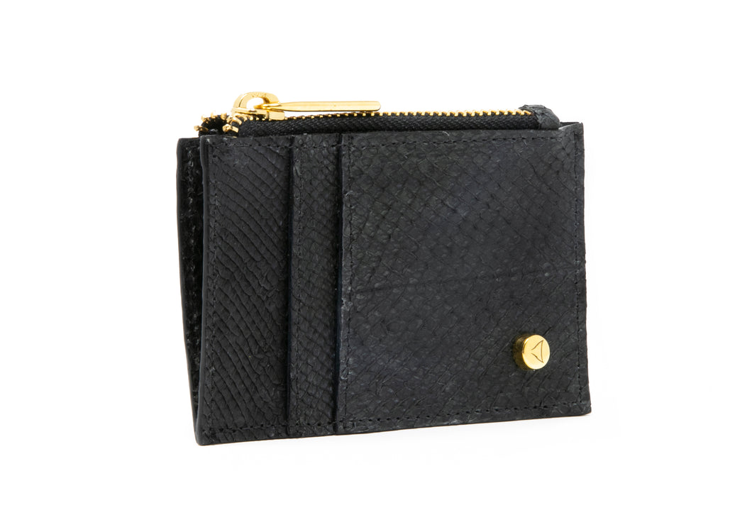 Kayla Cardholder in Washed Black
