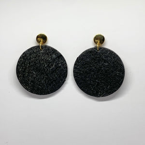Leather Earrings Large Circles