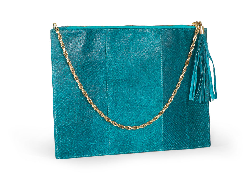 Skye Pouch in Deep Cyan