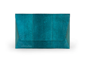 Camila Clutch in Deep Cyan