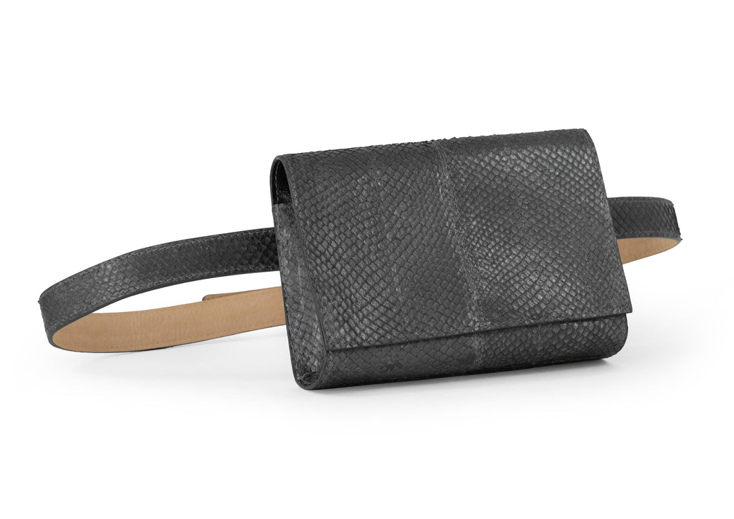 Penelope Belt Bag in Slate