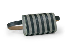 Load image into Gallery viewer, Penelope Belt Bag in Black & Moss Stripes
