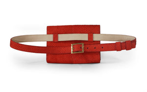 Penelope Belt Bag in Red Pepper