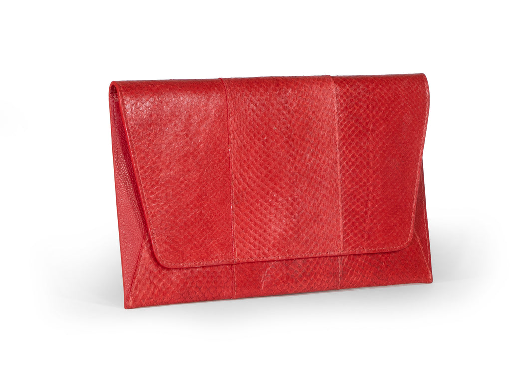 Camila Clutch in Vermilion