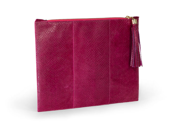 Skye Clutch in Raspberry