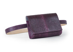Penelope Belt Bag in Aubergine