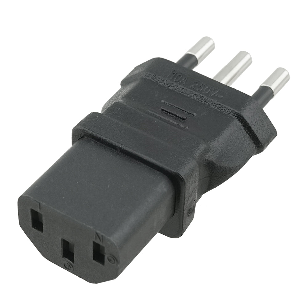 IEC C13 to Italy CEI 23-50 Plug Adapter