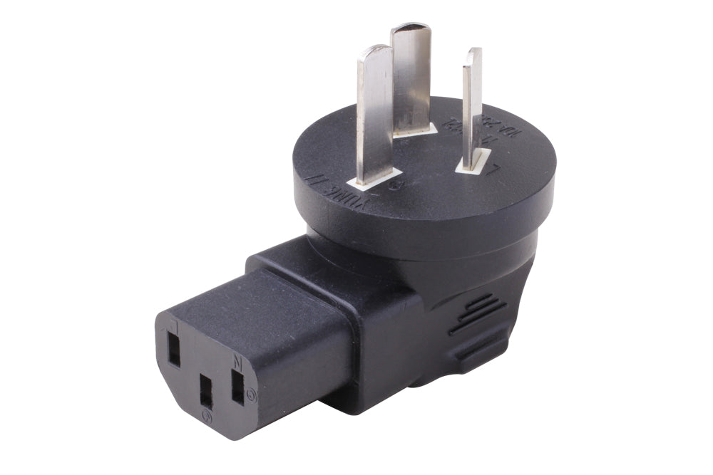 Angled IEC C13 to China GB2099 Plug Adapter
