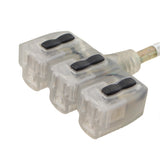 triple tap extension cord inlets