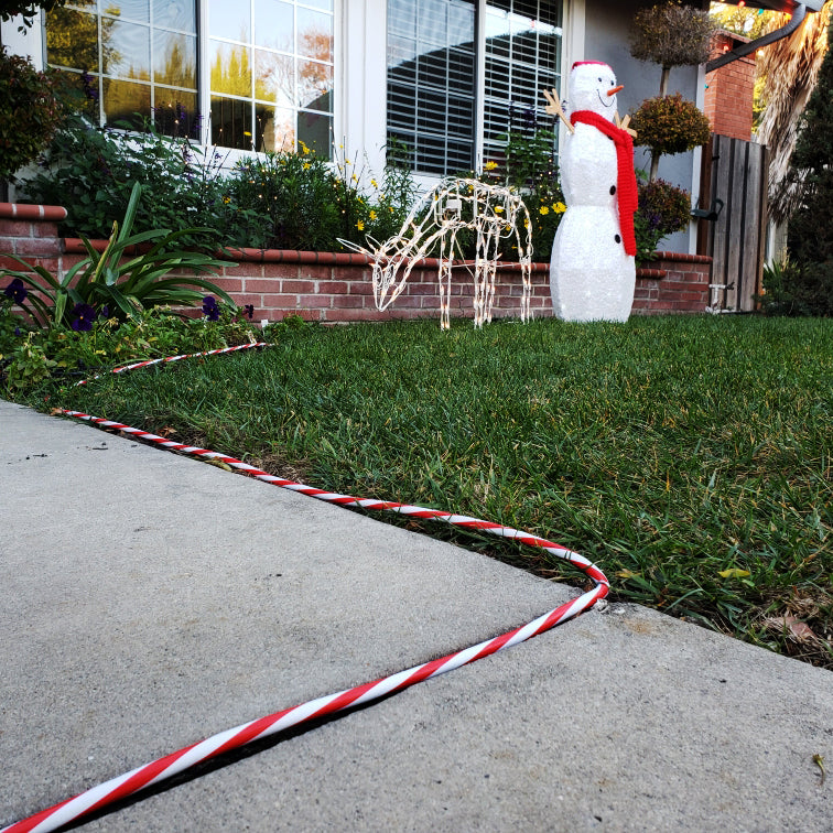 15 ft. Indoor High Visibility Extension Cord - Red and White Ultra Bright