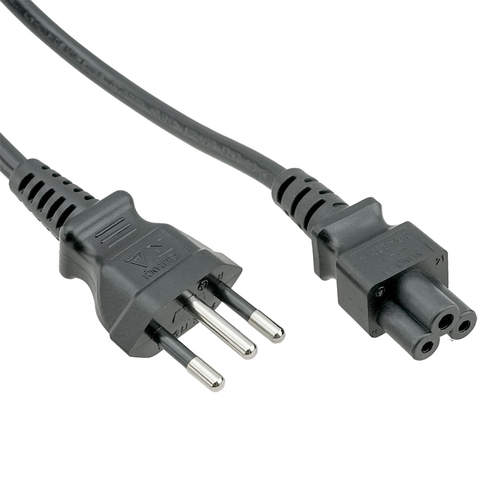 Brazil NBR14136 to C5 Power Cord