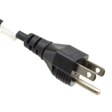 8 ft. USA NEMA 5-15P to C13 Power Cord