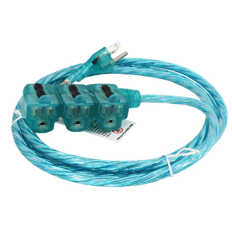 Sparkle Blue Designer Series Indoor Extension Cord
