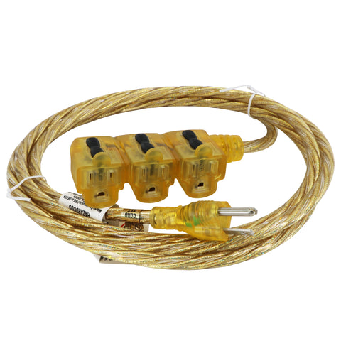Sparkle Gold Designer Series Indoor Extension Cord
