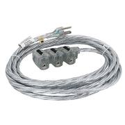 Designer Series NEMA Extension Cord - 15 ft Silver Sparkle
