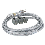 15 ft. Indoor Extension Cord - Sparkle Silver Designer Series