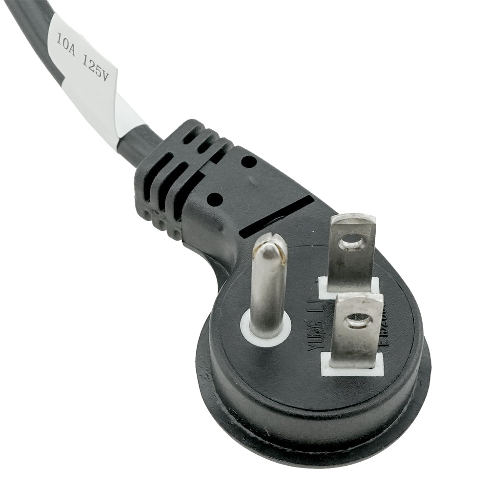 Ultra Low Profile 5-15P to C13 Power Cord - 6 ft